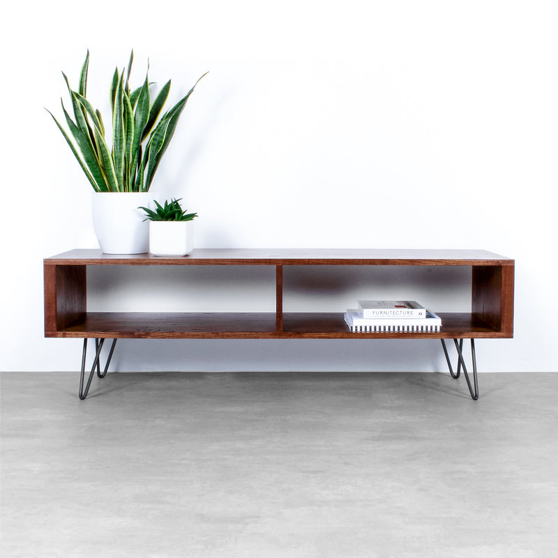 Henley TV Stand on Mid Century Hairpin Legs