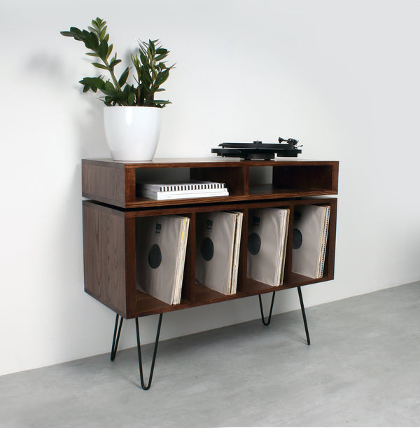 Kelston Record Player Cabinet on Hairpin legs