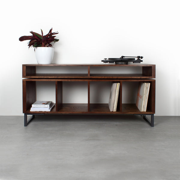 Kelston Record Player Cabinet on Minimalist Square legs