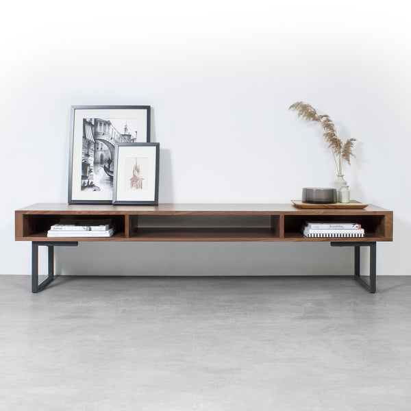 Marston Wide Coffee Table on Minimalist Square Legs