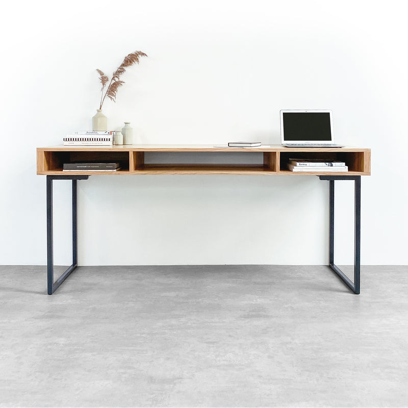 Marston Wide Console Desk on Minimalist Square Legs