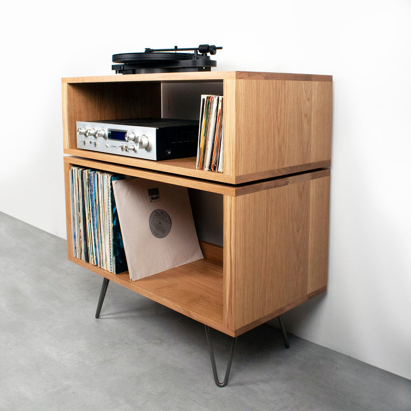 Tall Stack Record Player Stand