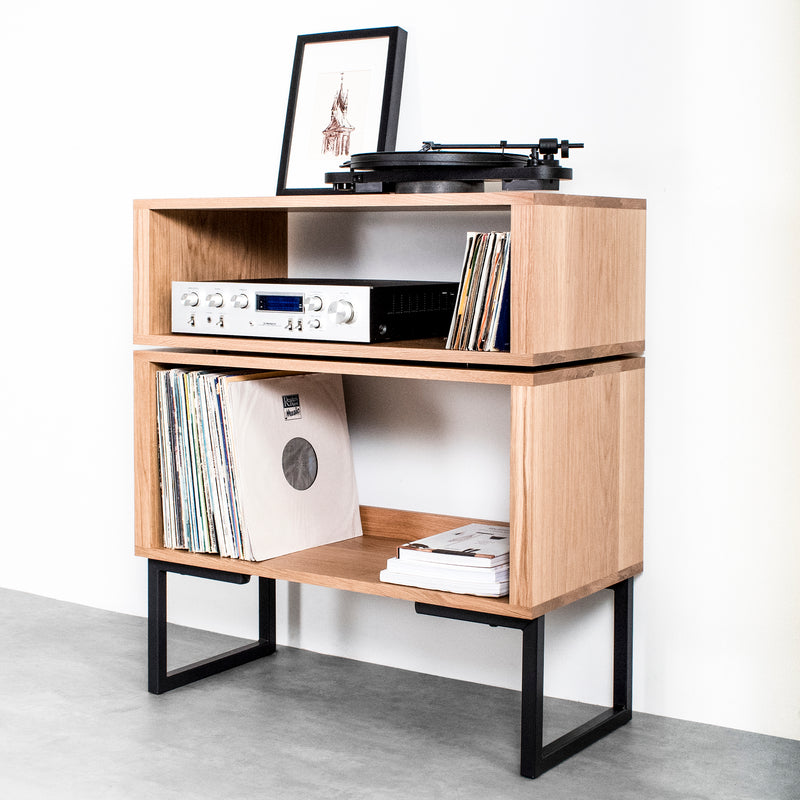 Tall Stack Minimalist Record Player Stand