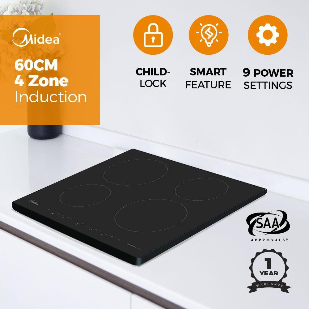 Midea MI60T 6000mm Induction Cooktop 4 Burners 7000W - Latest Living