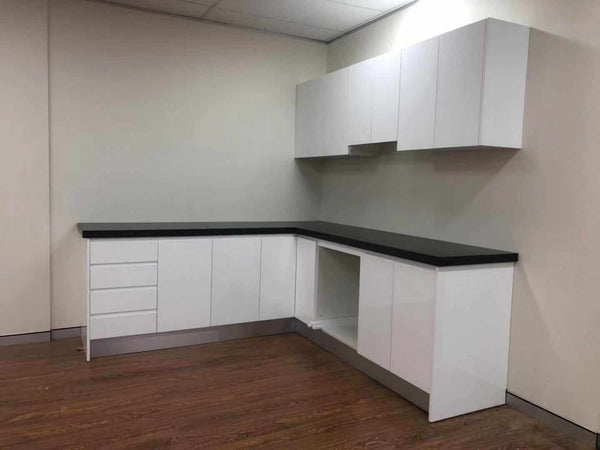 White High Gloss Flat Pack Polyurethane Kitchen Package