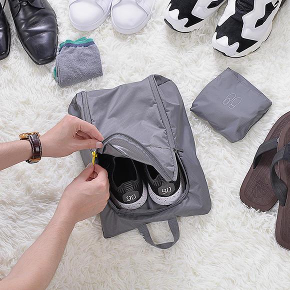 90 FUN Multi-Function Shoe Bag Grey - Latest Living