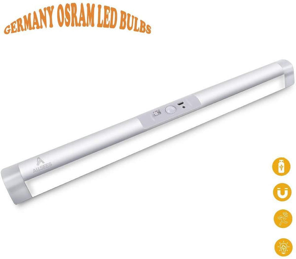 Allsees Cabinet Light Bar rechargeable, adjustable Sensor and Auto on/off Switch