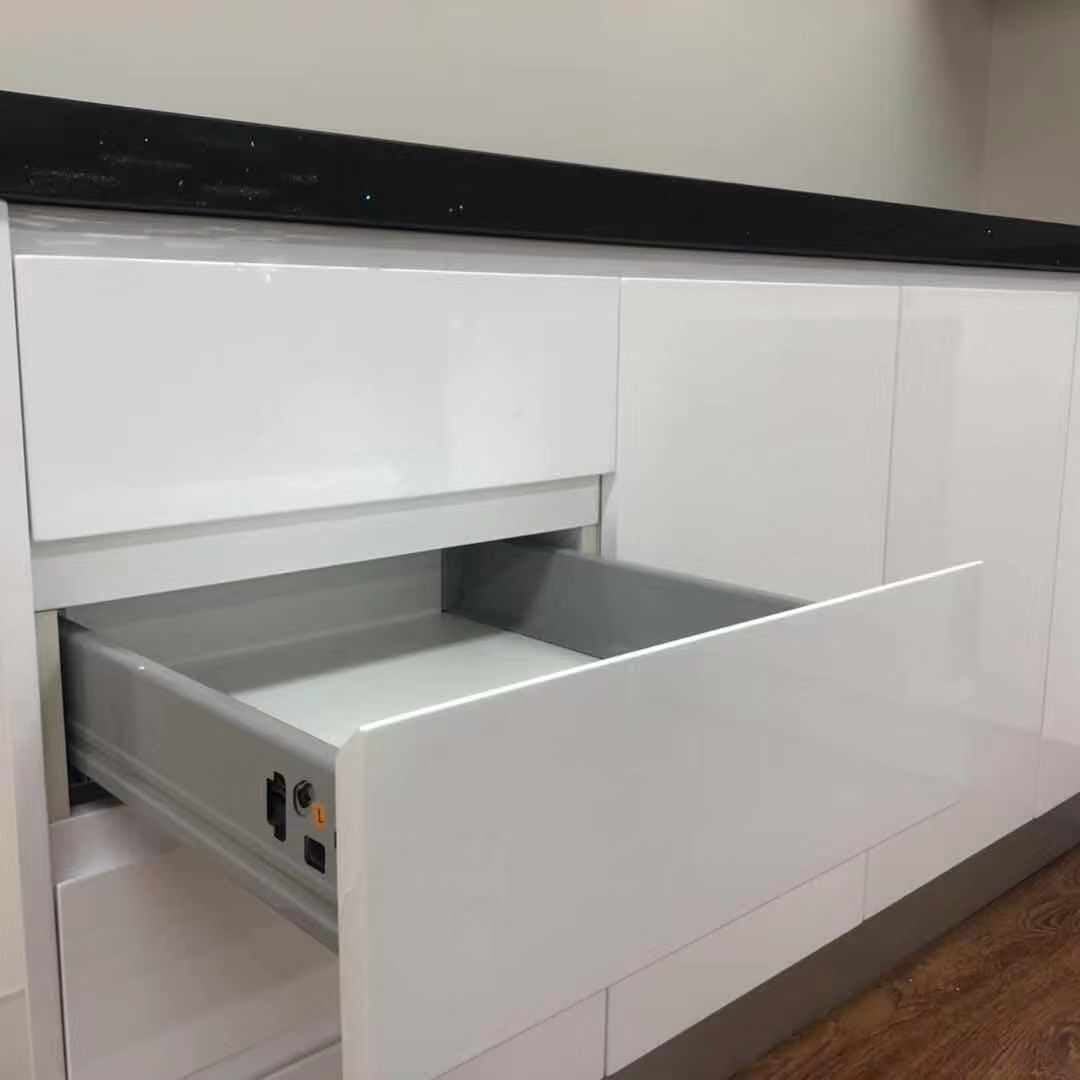 White High Gloss Flat Pack Polyurethane Kitchen Package - Latest Living