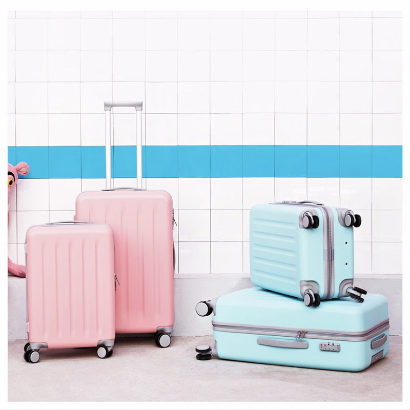 Xiaomi 90FUN PC Pink/baby blue Wheels Spinners Luggage Suitcase - Latest Living