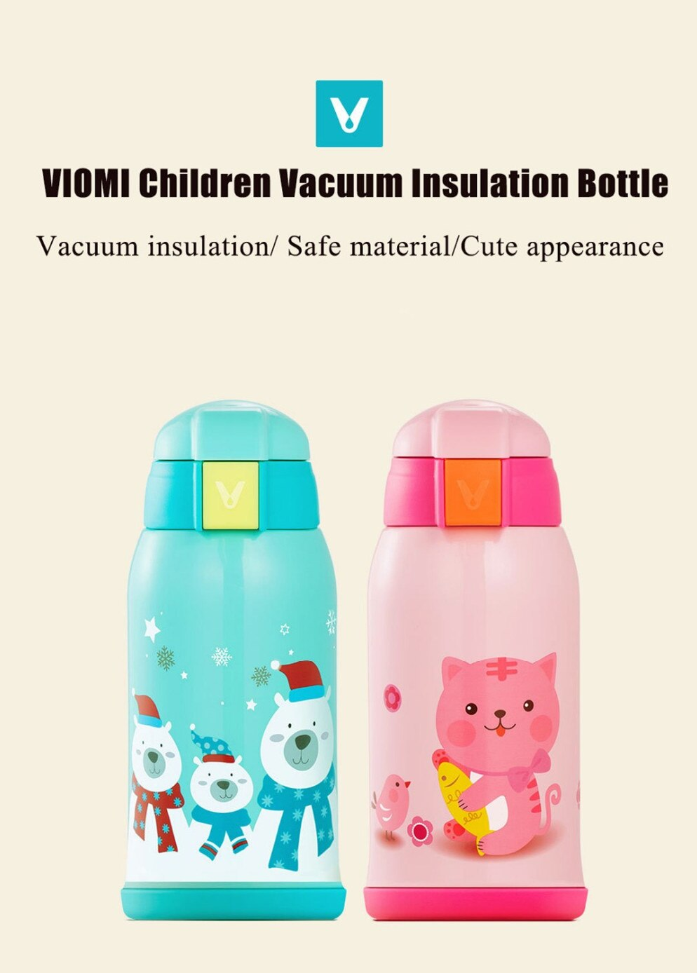 Viomi kids Stainless Steel Vacuum Cup and Thermos 600ml - Latest Living