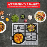 Midea MCG601SS 60cm Stainless Steel Gas Cooktop - Latest Living