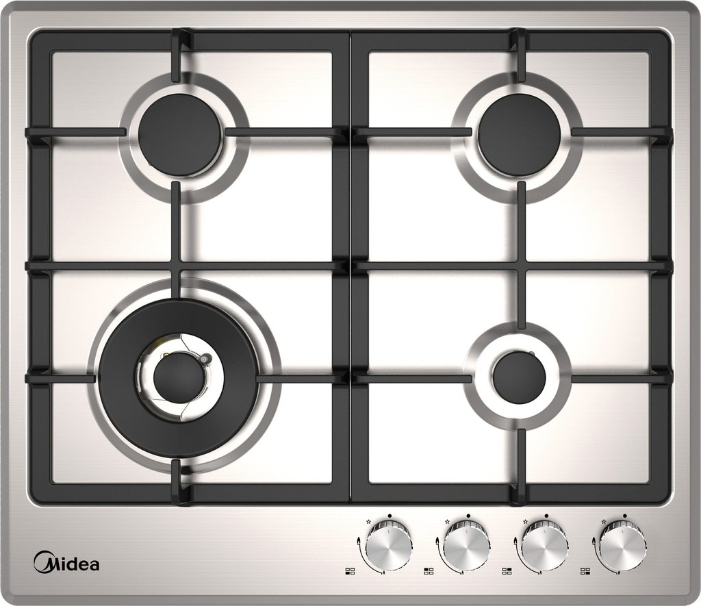 Midea MCG60SS 60cm Stainless Steel Gas Cooktop - Latest Living