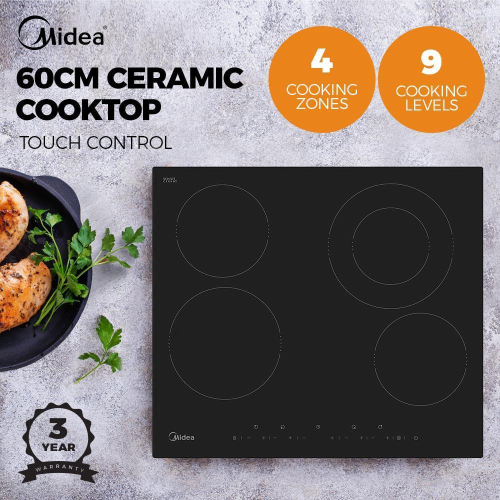 Midea MEC64 60cm Ceramic Cooktop 6.4kw - Latest Living