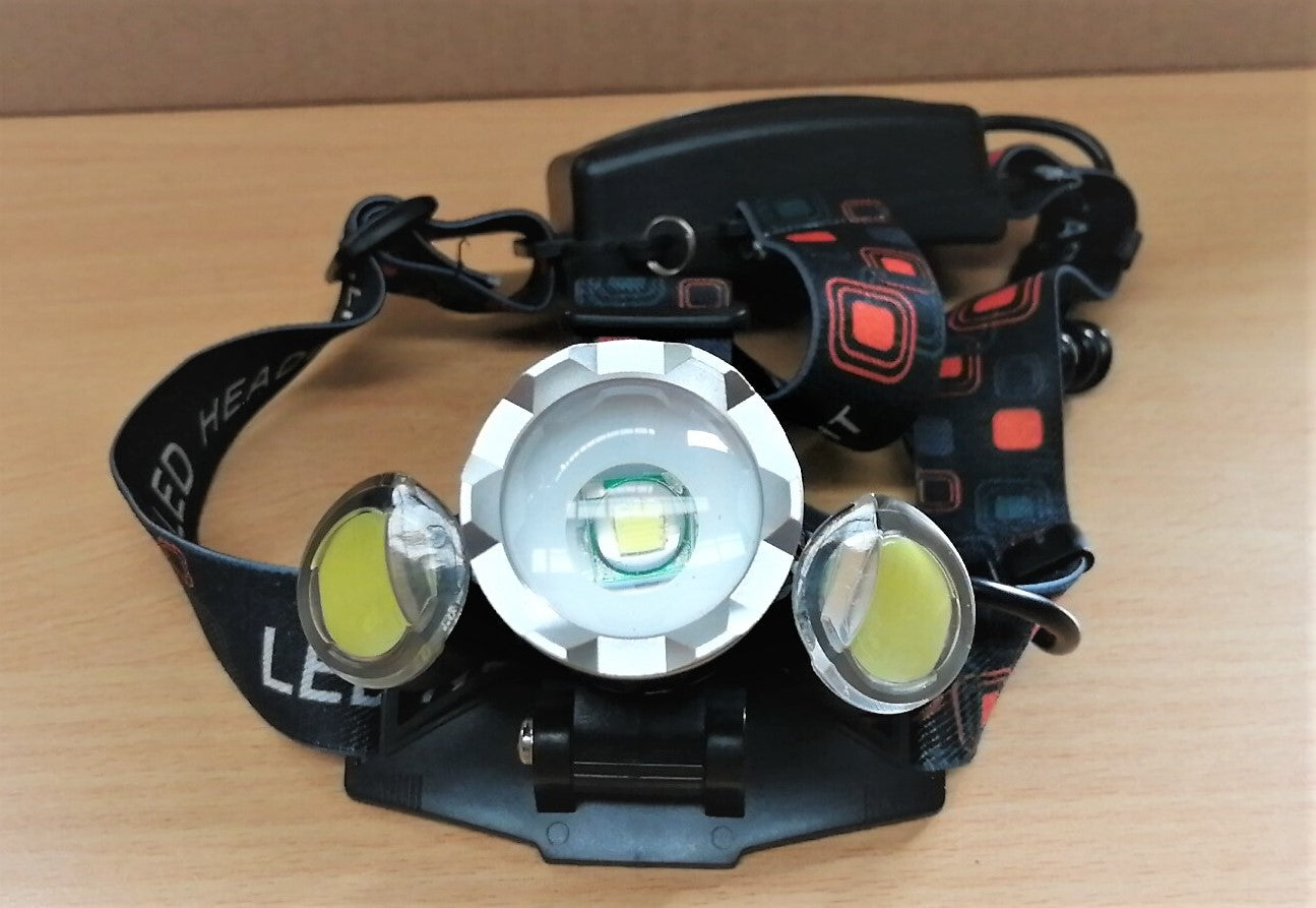 XML+SIDE RED Flash LED Head Light 4 Lighting Mode/ Adjustable Angle/ 3 charging Mode - Latest Living
