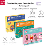 Bravokids Creative magnetic paste art box Fashion Dress Up - Latest Living