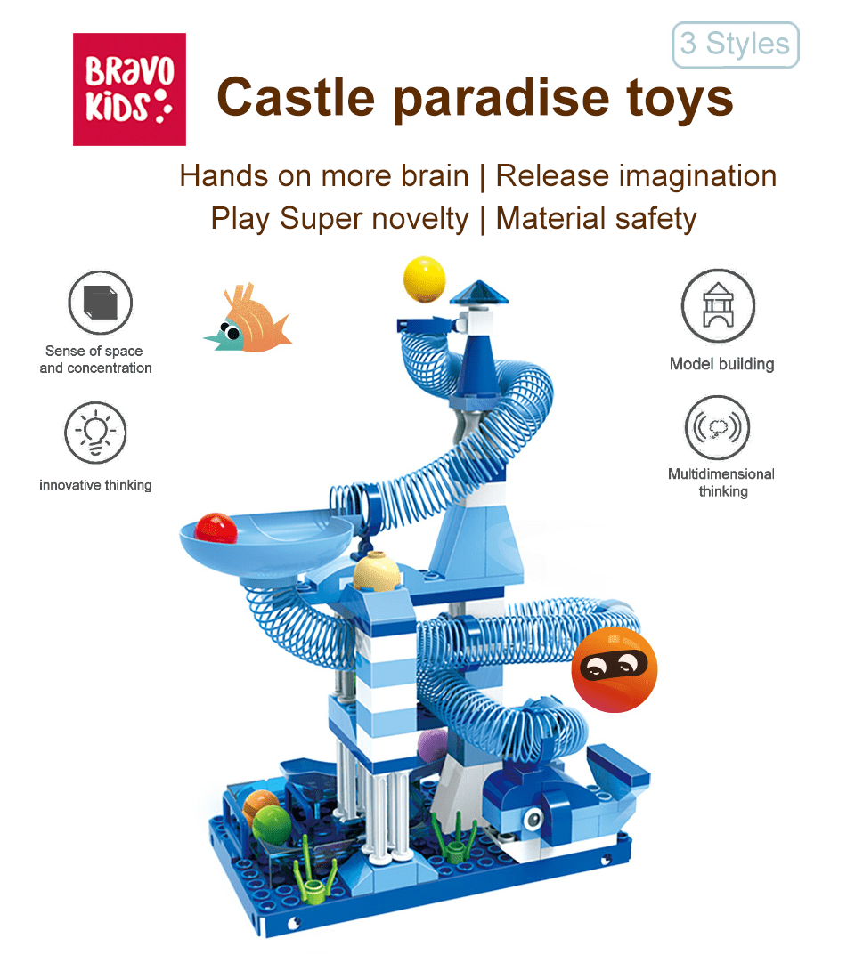 Bravokids Castle paradise toys 100pcs - Latest Living