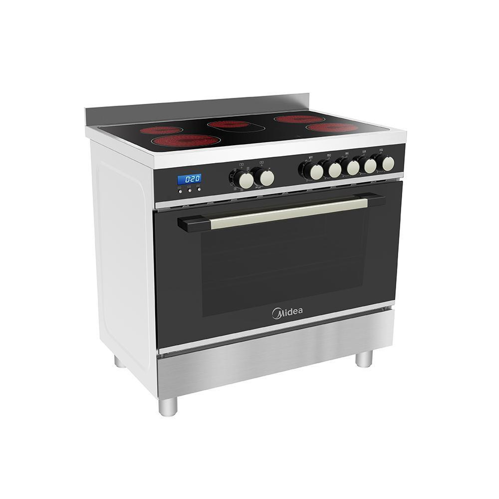 Midea MFS90CSS 90cm Freestanding cooker (Ceramic) - Latest Living