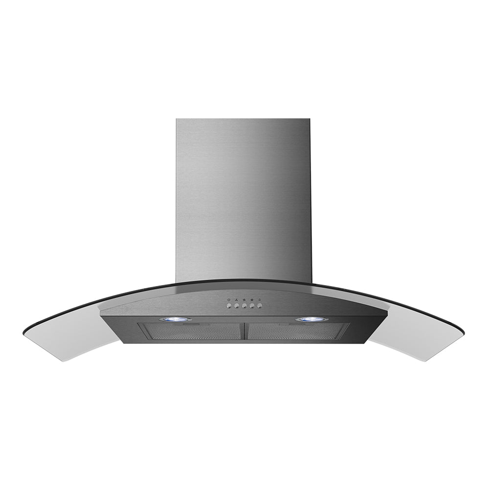 Midea MHC90CGSS 90CM Curved Glass Canopy Rangehood - Latest Living