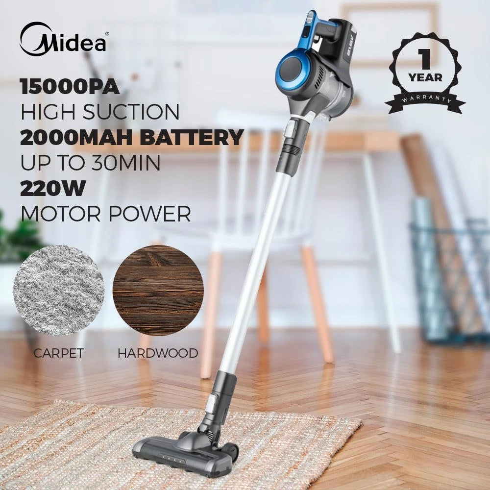 Midea VHS01A17Z0K Cordless Vacuum Cleaner 220W - Latest Living