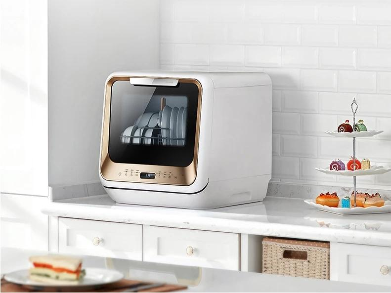 Midea Benchtop Multifunction Mini Portable Dishwasher Champagne - Latest Living