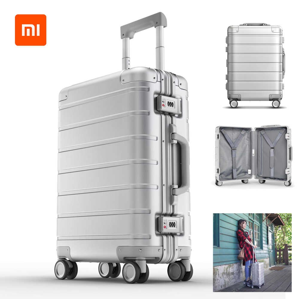 Xiaomi 20-inch Metal Travel Suitcase Universal Wheel - Silver - Latest Living