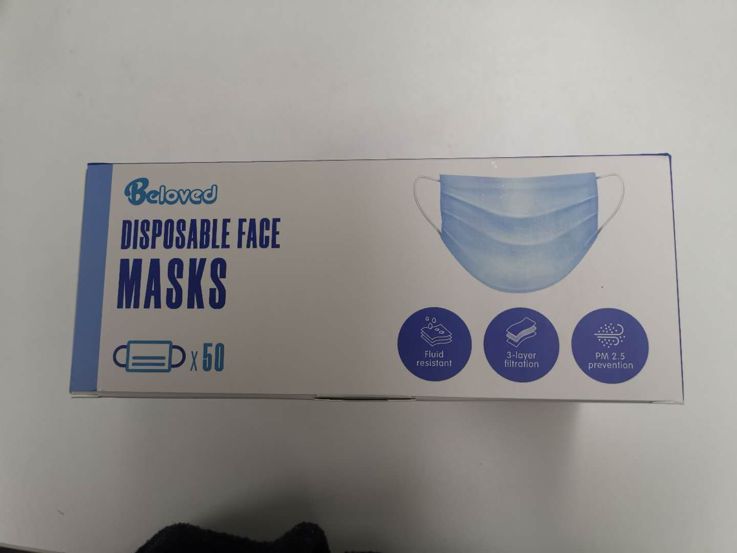 50x Disposable Mask Face Masks Filter Anti PM2.5 Dust Respirator 3 Layers AU SELLER FAST SHIPPING - Latest Living