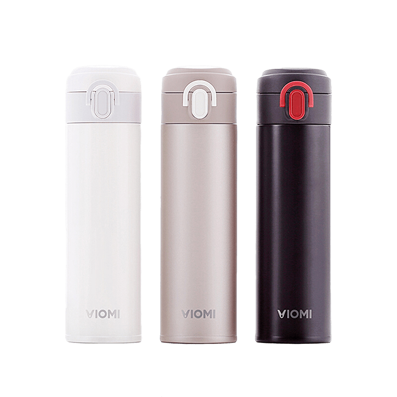 VIOMI Thermos mi Cup Stainless Steel Vacuum Smart Bottle 24 Hours Flask Water Thermos Single Hand ON/Close 300ml - Latest Living