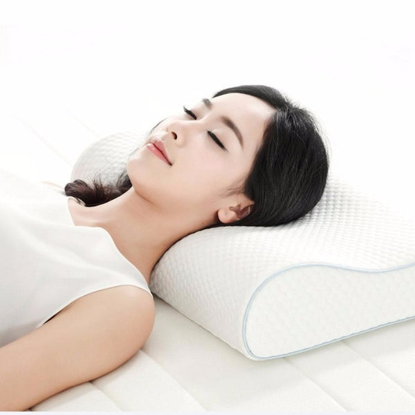 Xiaomi 8h H1 Cool Flexible Memory Cotton Pillow Anti-Bacteria Slow Re-Bouncing Three Curved Design - Latest Living