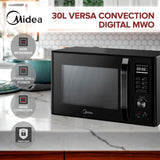 Midea MMWV30B 30L Versa Convection Digital Black Microwave Oven - Latest Living