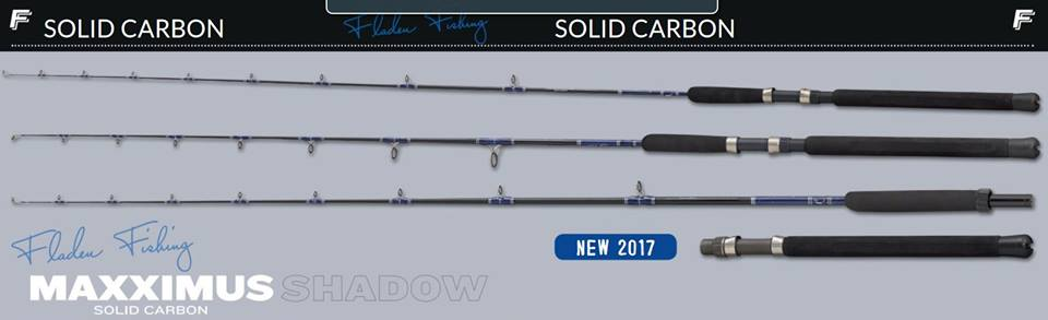 New Fladen Maxximus Shadow Solid Carbon Boat Rods