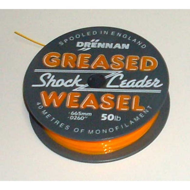 Drennan Greased Weasel Shockleader  fire orange