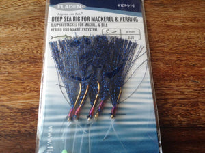 Fladen Deep Sea Blue Feather Mackerel And Herring Rig  #1274-5-1-0