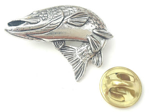 Pewter pike Badge F40-Billy's Fishing Tackle