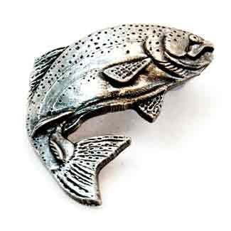 Pewter Trout badge F1