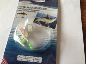 Fladen Cod and mackerel rig luminous hooks