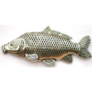 Pewter common carp Badge