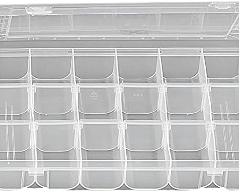 FLADEN Clear (18 sections) Fishing Terminal Bits Lure Storage Box #19-8159-Billy's Fishing Tackle