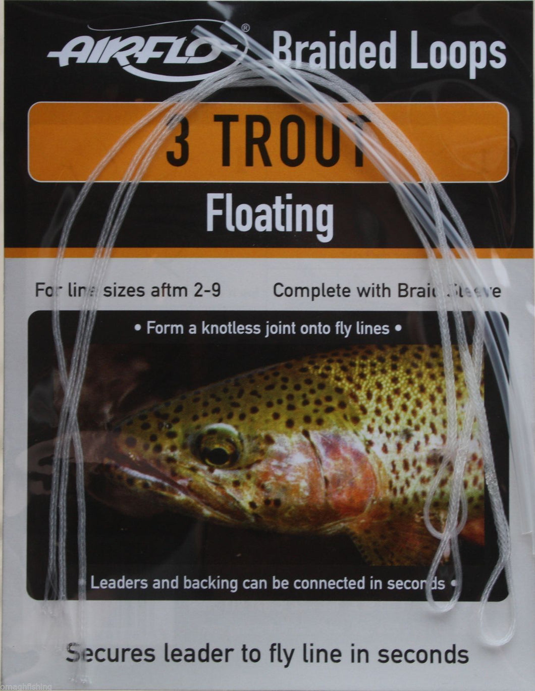 Airflo 3 Trout Braided Loops  Floating or Sinking