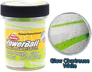 NEW Turbo Powerbait Dough - 42% Stronger; GLOW IN THE DARK