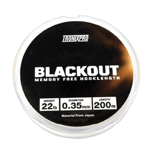 Tronixpro Blackout Memory Free Hooklength Clear 200m-Billy's Fishing Tackle