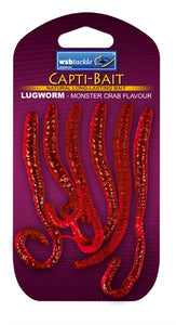 Capti Bait Lugworm Monster Crab (red)