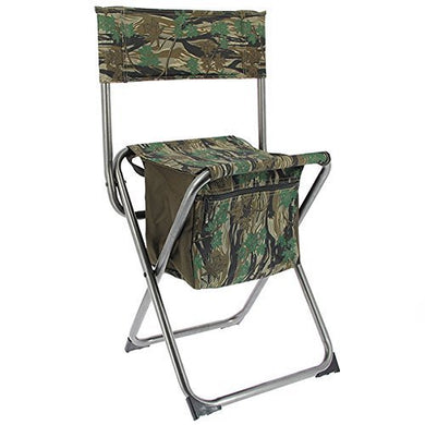 NGT Camo Quick Folding Stool with Storage Compartment