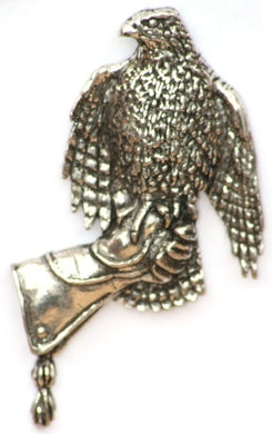 Pewter Hawk On a Glove