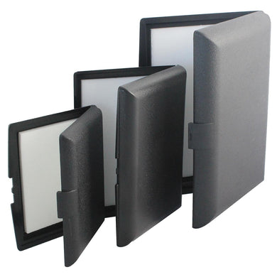 Black ABS Black plastic Fly Box
