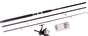 Leeda 10ft Mackerel Feathers Kit  Rod Reel Combo