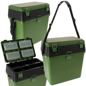 Fishing Fishing Seat & Tackle Box with Shoulder Strap-Billy's Fishing Tackle