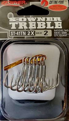 Owner s-owner treble cutting point st-41tn 2x hooks