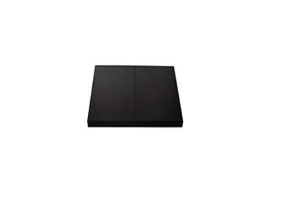 Maxiheat Hearth Matt Grey/Charcoal 1.2m x 1.2m x 40mm Metal Edge