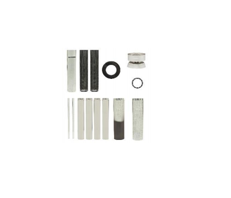 "Decro Mesh Default 6"" Flue Kit - Metallic Black"