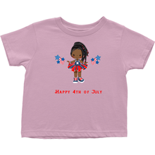 Toddler Braided Hair Fourth of July T-Shirt